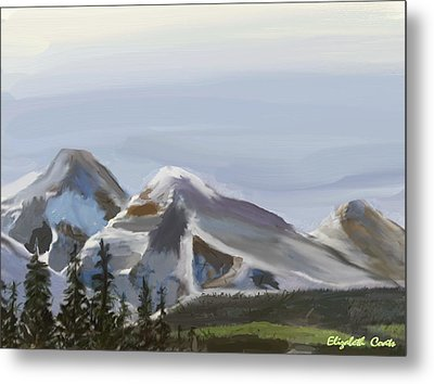 Metal Print featuring the painting Majestic Mountains by Elizabeth Coats