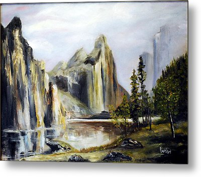 Majestic Mountains Metal Print by Phil Burton