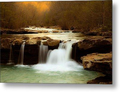 Majestic Waterfalls Metal Print by Iris Greenwell