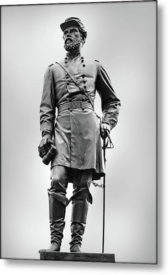 Major General John Reynolds Statue At Gettysburg Metal Print by Randy Steele