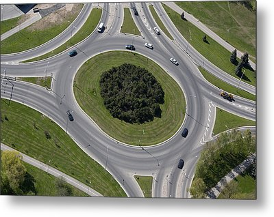 Major Roads And Dual Carriageways. A Metal Print by Jaak Nilson