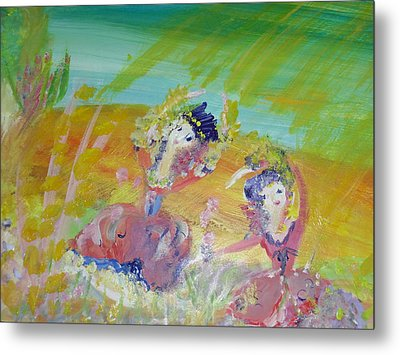 Make Hay While The Sunshines Metal Print by Judith Desrosiers