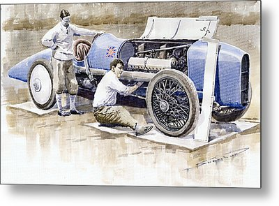 Malcolm Campbell Sunbeam Bluebird 1924 Metal Print