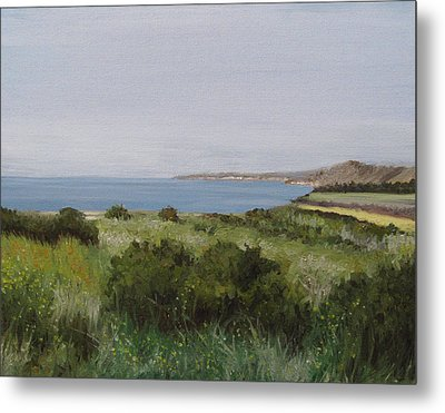 Malibu Bluffs Metal Print by Cristin Paige