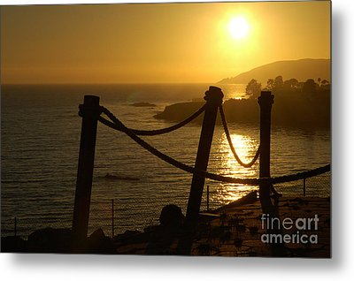 Malibu Sunset Metal Print by Micah May