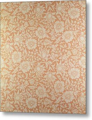 Mallow Wallpaper Design Metal Print by William Morris