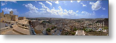 Malta Panoramic View Of Valletta  Metal Print by Guy Viner