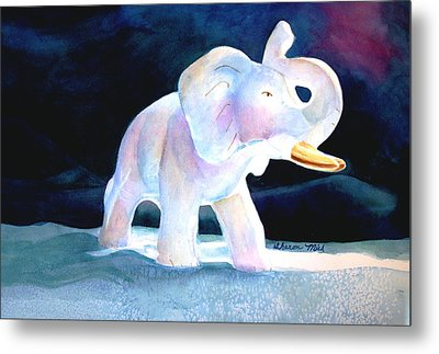 Metal Print featuring the painting Mama's White Elephant by Sharon Mick