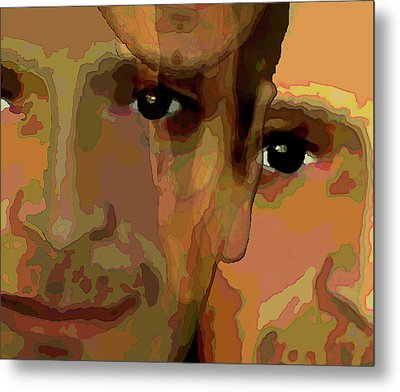 Metal Print featuring the painting Man In The Mirror 1 by Jann Paxton