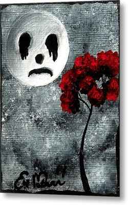 Man In The Moon Metal Print by Oddball Art Co by Lizzy Love