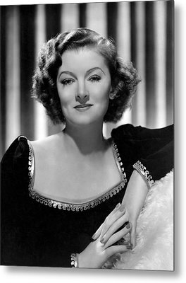 Man-proof, Myrna Loy, Mgm Portrait Metal Print by Everett