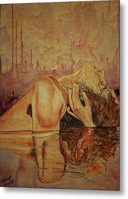 Metal Print featuring the painting Man by Teresa Beyer
