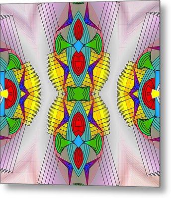 Mandala Mystery Metal Print by Mario Carini