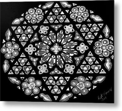 Mandala Of Hope Phase 1 Metal Print by Lisa Brandel