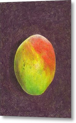 Mango On Plum Metal Print by Steve Asbell