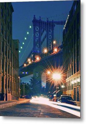 Manhattan Bridge Metal Print by Thomas Kurmeier