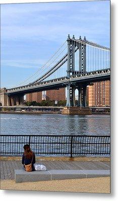 Manhattan Bridge2 Metal Print by Zawhaus Photography