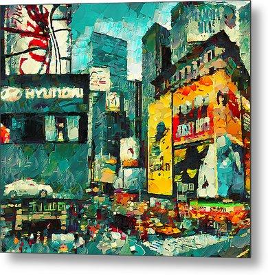 Manhattan In Lights Metal Print