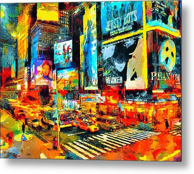 Manhattan Nights Metal Print