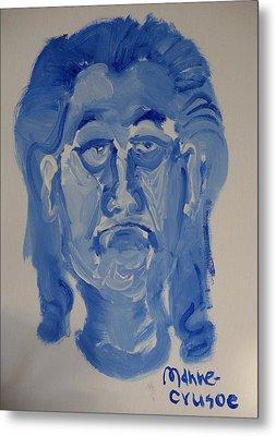 Manne-crusoe Blue Metal Print by Jay Manne-Crusoe