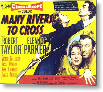 Many Rivers To Cross, Eleanor Parker Metal Print by Everett