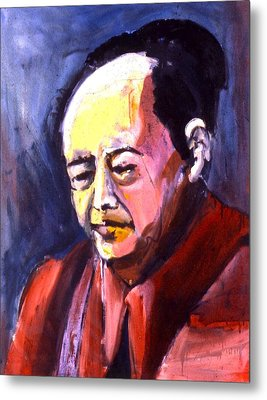 Metal Print featuring the painting Mao by Les Leffingwell
