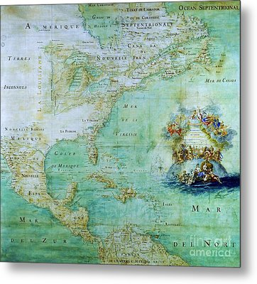 Map Of America  Metal Print by Pg Reproductions