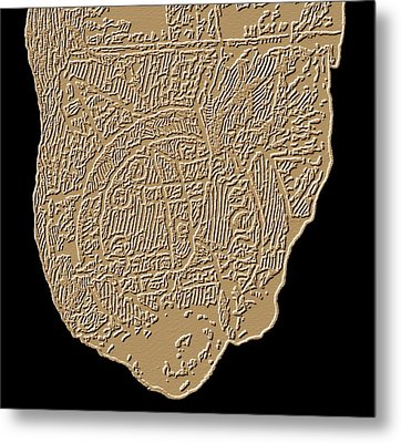 Map Of Mesopotamia Metal Print by Sheila Terry