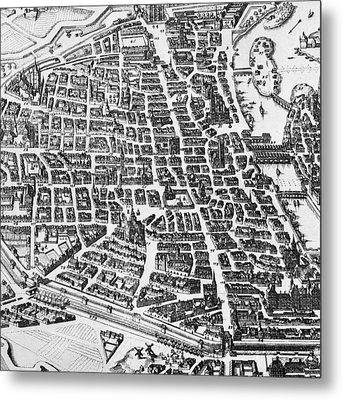 Map Of Paris Metal Print by German School