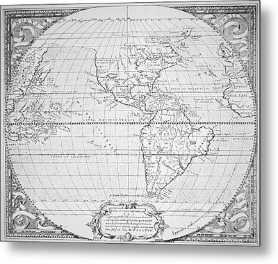 Map Of The New World 1587 Metal Print by Richard Hakluyt