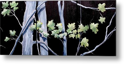 Maples In Moonlight Metal Print