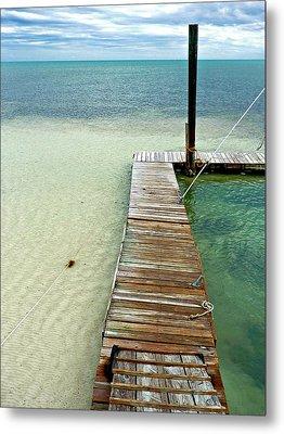 Marathon Dock Florida Keys Metal Print