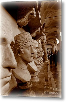 Metal Print featuring the photograph Marble Busts. Vatican by Tanya  Searcy