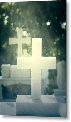 Marble Crosses Metal Print by Joana Kruse