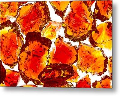 Marble Red Crackle Broken 1 B Metal Print by John Brueske