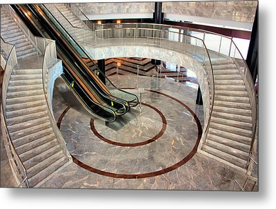 Marble Staircases Metal Print by Kristin Elmquist