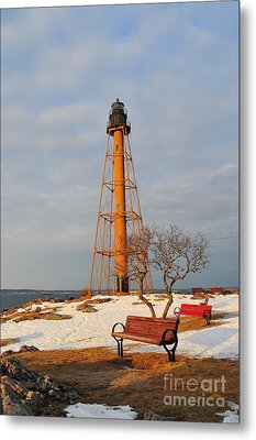 Marblehead Light Metal Print by Catherine Reusch Daley