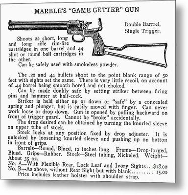 Marbles Game Getter Gun Metal Print by Granger