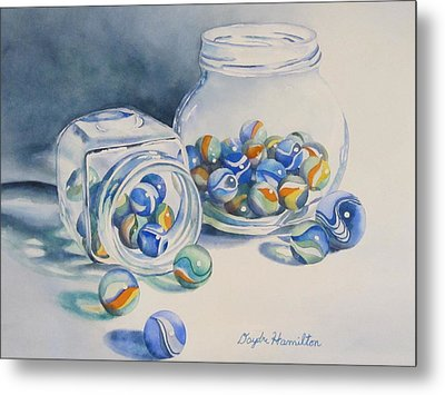 Marbles On Review Metal Print