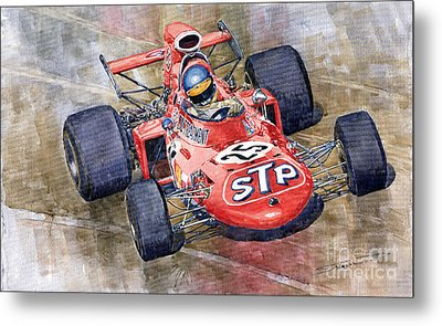 March 711 Ford Ronnie Peterson Gp Italia 1971 Metal Print by Yuriy  Shevchuk