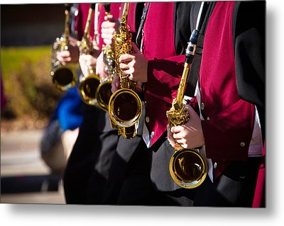 Marching Band Saxophones  Metal Print by James BO  Insogna
