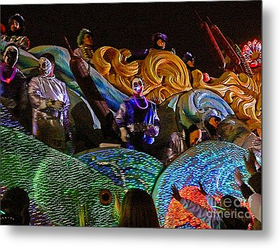 Metal Print featuring the photograph Mardi Gras Clown by Jeanne  Woods