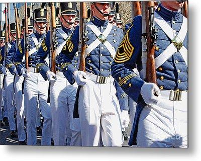 Mardi Gras Marching Soldiers Metal Print by Kathleen K Parker