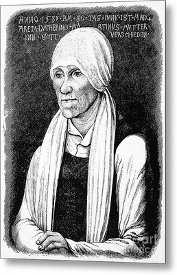 Margarethe Luther Metal Print by Granger