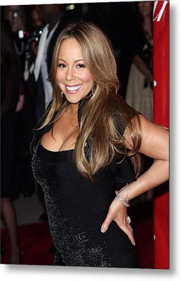 Mariah Carey At Arrivals For 21st Metal Print by Everett