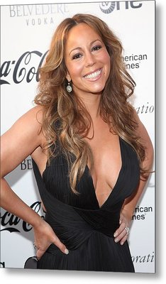 Mariah Carey At Arrivals For Apollo Metal Print