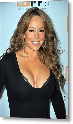 Mariah Carey At Arrivals For New York Metal Print by Everett