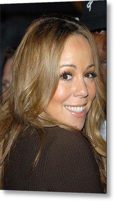 Mariah Carey At Talk Show Appearance Metal Print by Everett