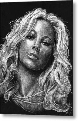 Mariah Carey Metal Print by Michael Trujillo