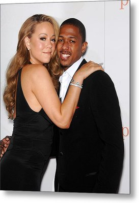 Mariah Carey, Nick Cannon At Arrivals Metal Print by Everett